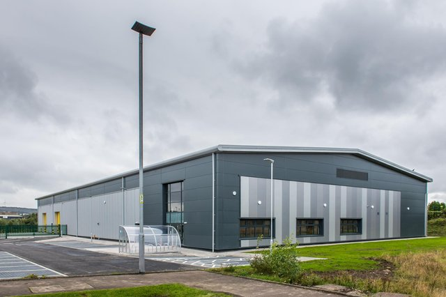 The 28,000-square-foot unit at Clyde Gateway East business park was built on a speculative basis and has been purchased by Bradda Capital. The property is leased to the Japanese pump manufacturer Torishima Service Solutions Europe for its European headquarters. Picture: Liam Anderstrem