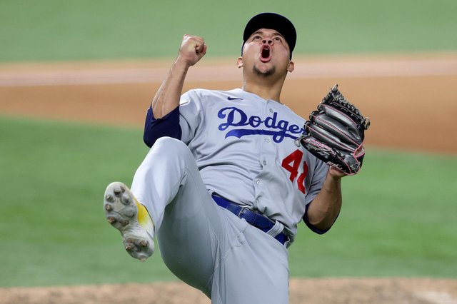Defending champions the LA Dodgers have hit a rough patch, losing seven of their last ten games. Picture: Tom Pennington/Getty Images