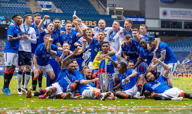 Rangers finished Scottish Premiership champions this past season. Picture: SNS