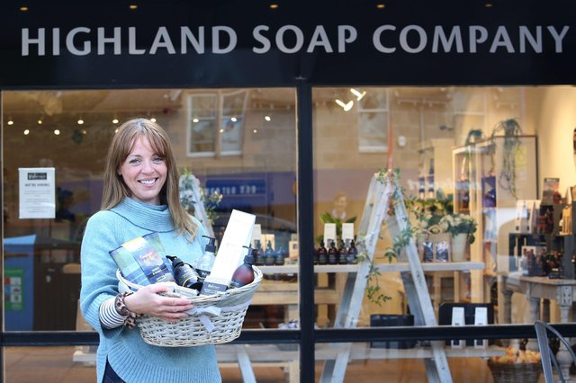 Emma Parton of the Highland Soap Company which has opened a new shop in Aviemore. Picture: Peter Jolly