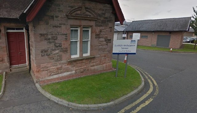 """On Friday, February 26, """"attempts"""" were made to gain entry to the Scottish Ambulance Service Depot on Parkhead Road, Sauchie (Photo: Google Maps)."""