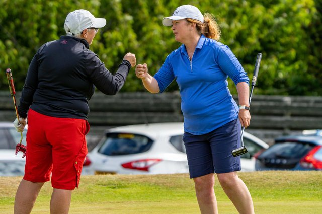 East Renfrewshire's Gillian Kyle needed just 26 holes to beat Harburn's Jennifer Bryans 5&4. Picture: Scottish Golf