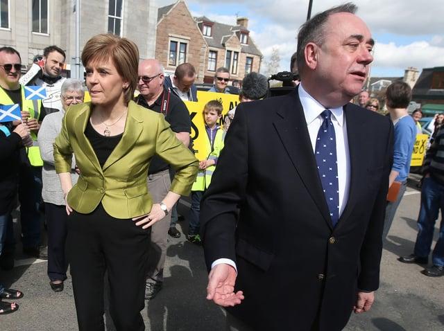 Nicola Sturgeon with Alex Salmond. Picture: PA