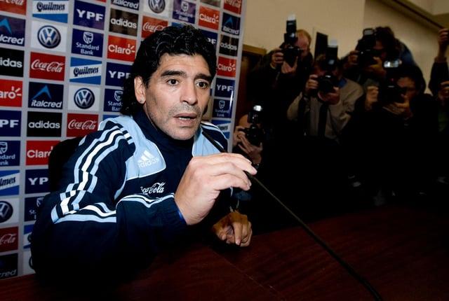 Diego Maradona in 2008. Picture: SNS