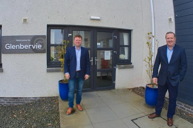 From left: Avondale Care Scotland directors Adrian and Graeme Hendry outside Glenbervie. Picture: contributed.