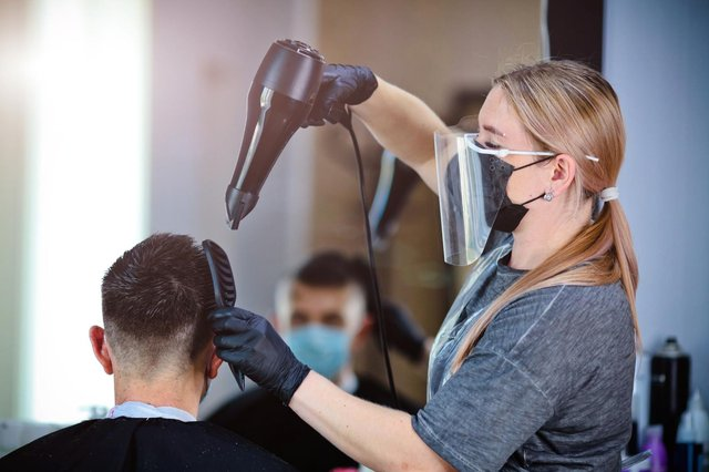 Hairdressers could reopen again in late April (Shutterstock)