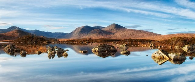 When restrictions allow, Rannoch Moor is an ideal destination for a campervan staycation.