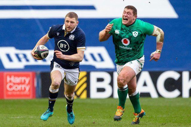 Finn Russell is unlikely to be fit to face Italy.  Picture: Craig Williamson/SNS