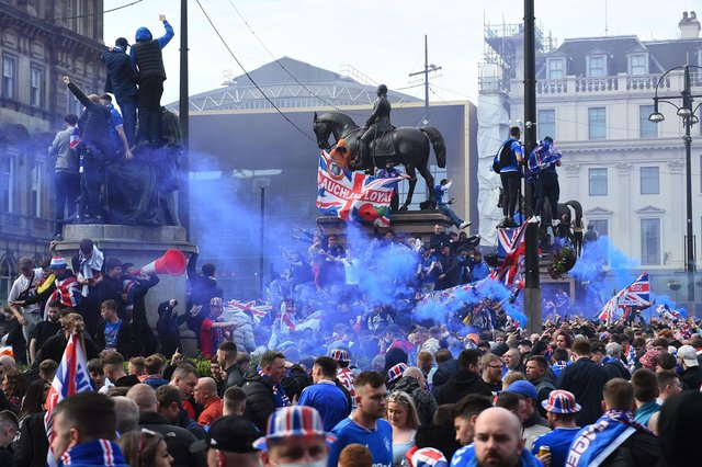 Was the George Square chaos indicative of the tolerance Scottish authorities show towards anti-Catholic bigotry? (Photo by ANDY BUCHANAN/AFP via Getty Images)