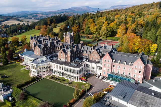 The historic Perthshire hotel forms the heart of one of the most popular holiday resorts in Scotland.