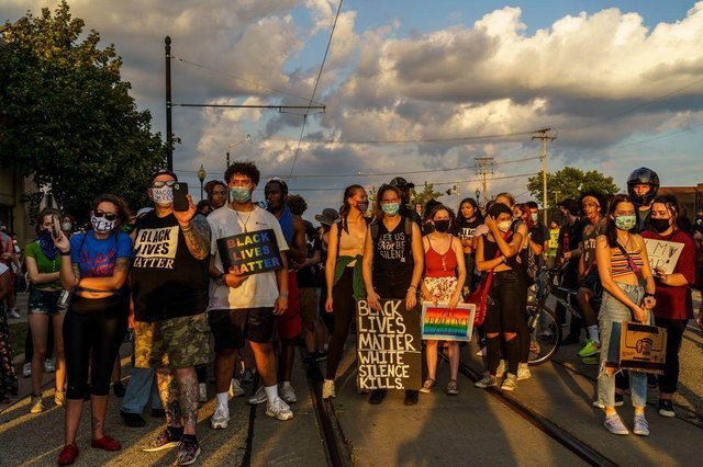 The two victims were shot during Black Lives Matter demonstrations in Kenosha, Wisconsin (Getty Images)