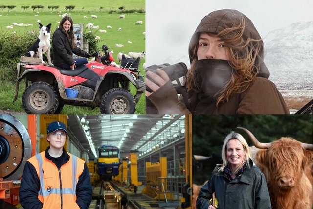 Women working in jobs that are still considered for the boys.