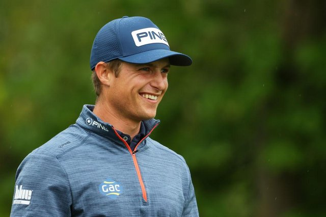 Calum Hill smiles during the final round of the Betfred British Masters hosted by Danny Willett at The Belfry. Picture: Andrew Redington/Getty Images.