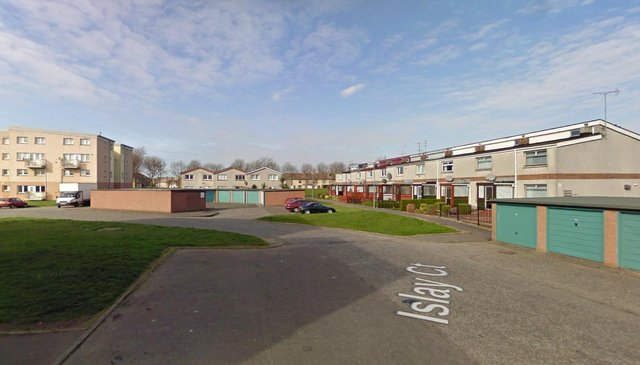 Islay Court, Grangemouth where the attack took place picture: Google images