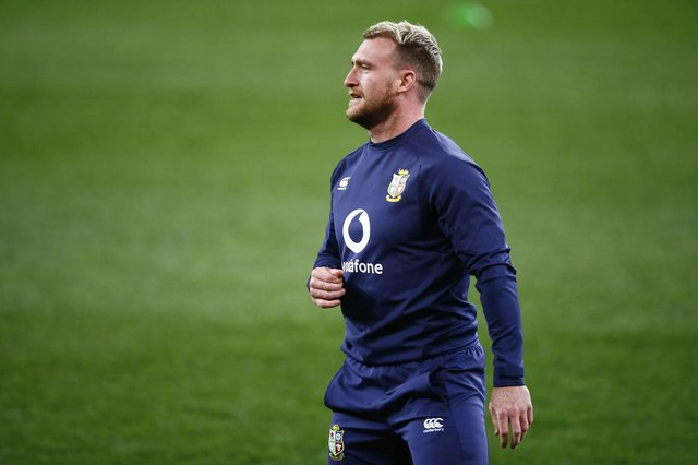 Stuart Hogg trained with the Lions ahead of the match against South Africa A on Wednesday evening in Cape Town. Picture: Steve Haag/PA Wire