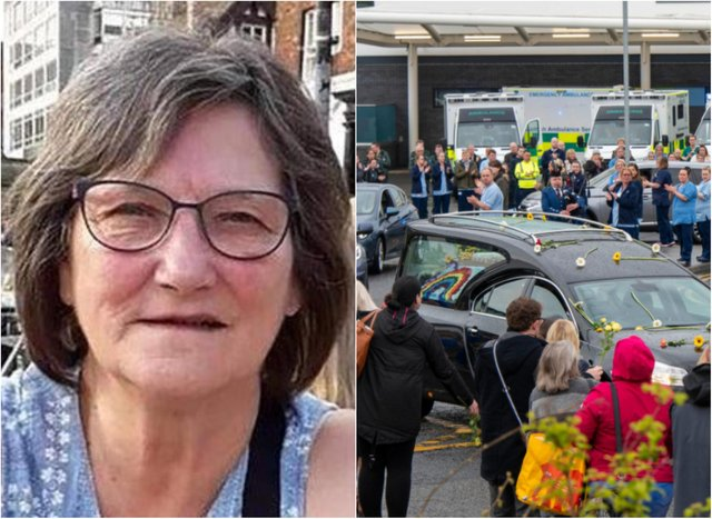 Jane Murphy's funeral cortege took place on Thursday.