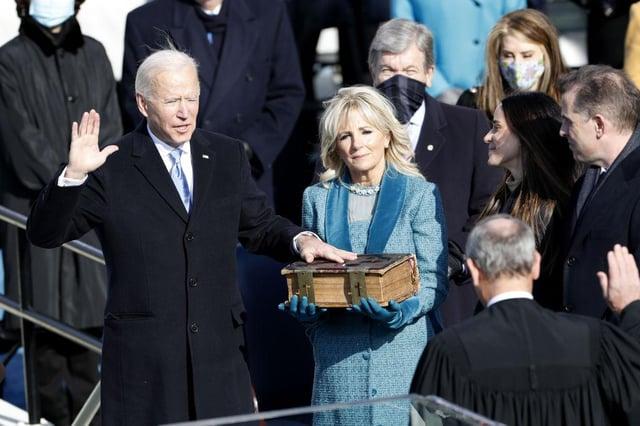 Joe Biden was sworn in as president on January 20 (Getty Images)