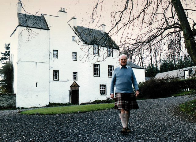 Sir William Macpherson at his home, Newton Castle, Blairgowrie (Picture: Allan Milligan)