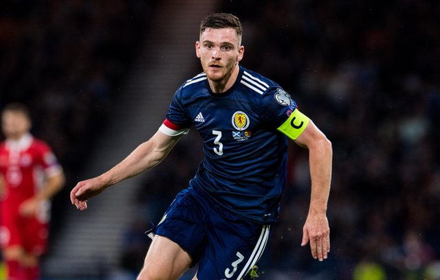 Scotland captain Andy Robertson won his 50th cap against Moldova on Saturday (Photo by Ross Parker / SNS Group)