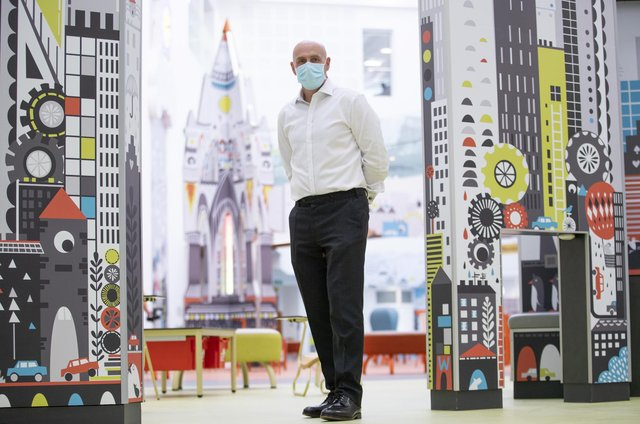 Chief Executive Calum Campbell in The Pod area at the new Royal Hospital for Children and Young People Edinburgh. Picture date: Thursday March 18, 2021.