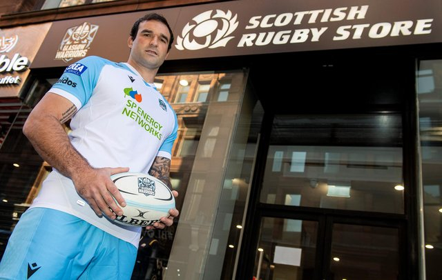 Lewis Bean at the Glasgow Warriors kit launch at the Scottish Rugby Store in Glasgow. Picture: Ross MacDonald/SNS