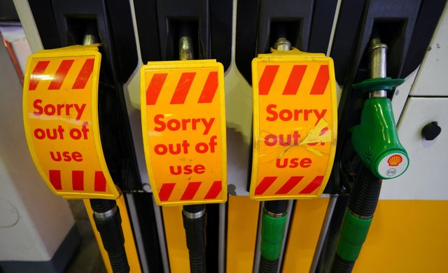 A Shell petrol station in Liverpool which was closed due to no fuel on Thursday September 23, 2021. (Image credit: Peter Byrne/PA Wire)