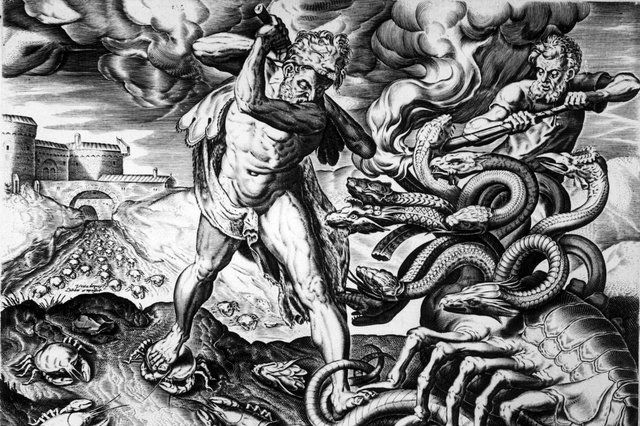 Nationalism, or patriotism, has as many heads as the mythical Hydra, seen being slain by Heracles in this picture from circa 1750 (Picture: Hulton Archive/Getty Images)