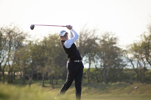 Hannah Darling won the St Rule Trophy in St Andrews on Sunday and is now bidding to add the Scottish Women's Championship at Gullane this weekend. Picture: Scottish Golf