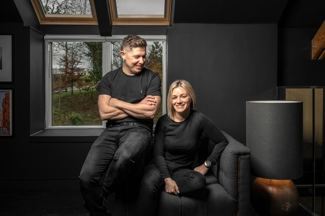 Motorbike enthusiasts Mark Paterson and his partner Carol-Ann Brown are delighted with their unique home, which is more New York loft than Scottish country cottage