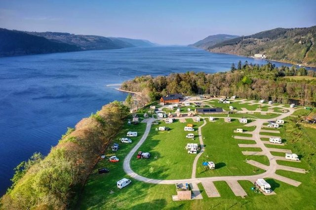 A caravan and camping site on the shores of the world-renowned Loch Ness is on sale for offers of over £2 million.