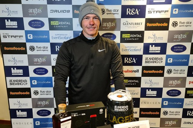 Kieran Cantley after beating Paul O'Hara in a play-off to win the Royal Dornoch Masters. Picture: Tartan Pro Tour