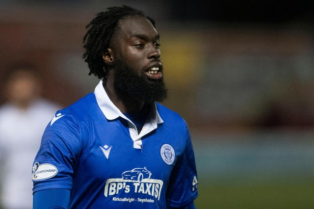 Livingston have signed Queen of the South defender Ayo Obileye on a pre-contract agreement. (Photo by Craig Foy / SNS Group)