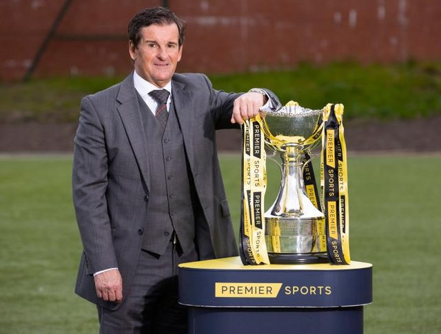 Tosh McKinlay pictured as the draw is made for the first round of the 2021/22 Premier Sports Cup (Photo by Alan Harvey / SNS Group)