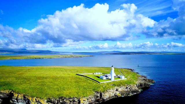 You could stay in a remote lighthouse cottage in a picture-perfect location on a remote island clifftop.