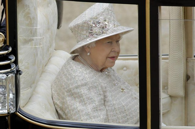 <p>The ceremony of Trooping the Colour takes place in June each year and is attended by the Queen, to celebrate her birthday (Picture Getty Images)</p>