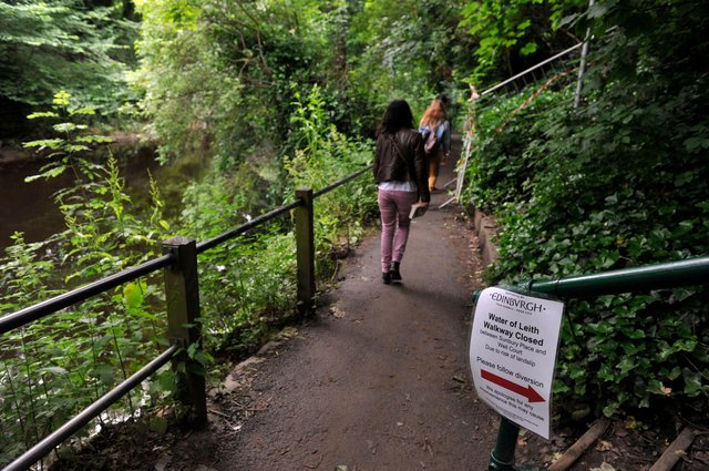 Path was closed due to the risk of a landslip