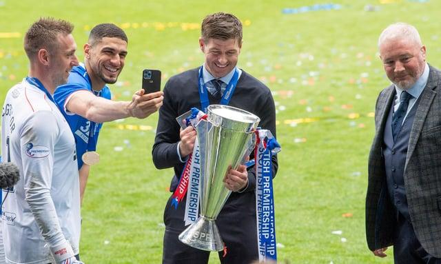 Steven Gerrard led Rangers to the Scottish Premiership title this past season. Picture: SNS