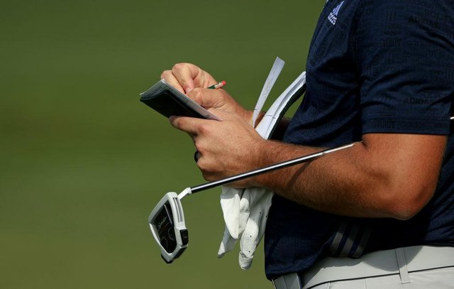 Marking a scorecard under the World Handicap System may still be the same but calculating an actual handicap is now a complicated process. Picture: Patrick Smith/Getty Images.