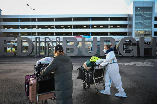 Members of the public are seen at Edinburgh Airport. Picture: Jeff J Mitchell/Getty Images