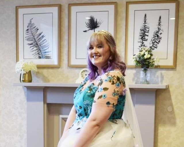 Laura Laing, 30, suffered the agonising injury while staying with friends at a cabin in Dunoon, Argyll & Bute as part of her hen do. Pictures: supplied