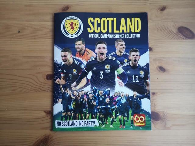 The dedicated Scotland Panini sticker album.