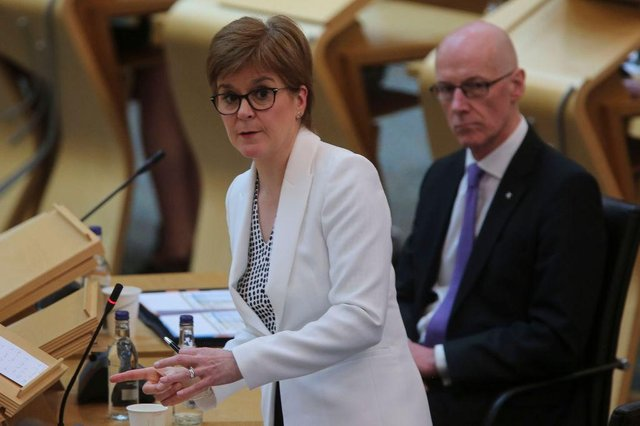 Nicola Sturgeon has confirmed the latest coronavirus figures for Scotland. (Photo by Fraser Bremner - Pool/Getty Images)