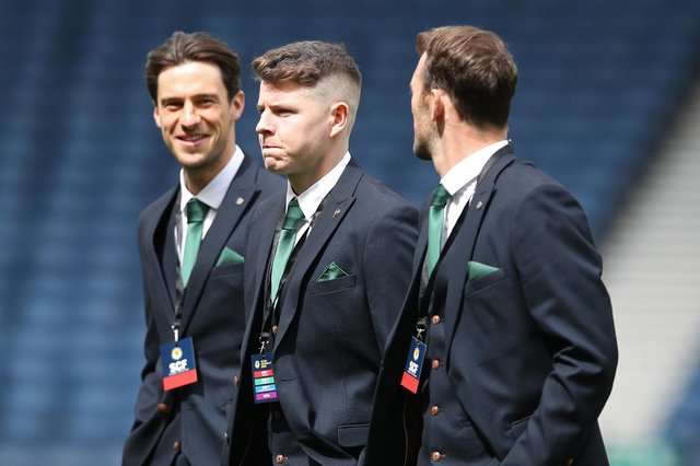 Kevin Nisbet and Hibs cut a dash pre-match but not in the first half