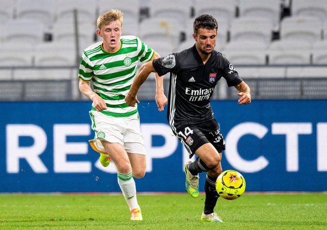 Action from Celtic's friendly against Lyon last summer - as it stands the French side will be the team to avoid for the Parkhead in the third round  of the Champions League qualifiers, should they progress, as seeds, from the second round stage. (SNS Group).