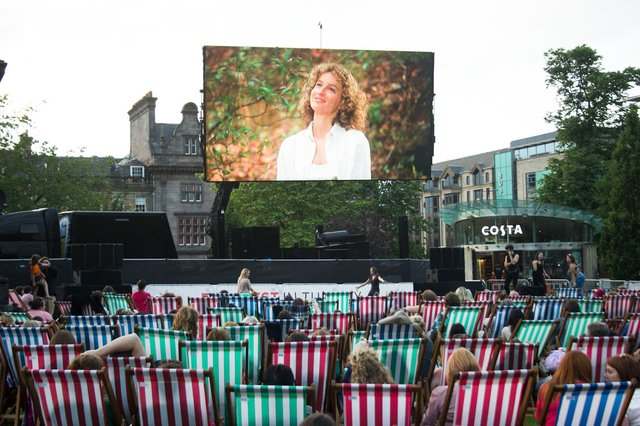 Open-air film screenings will be returning to St Andrew Square in August. Picture: Laura Shand
