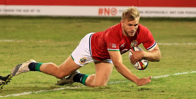 Chris Harris scored a try for the Lions against the Sharks on Saturday. Picture: David Rogers/Getty Images