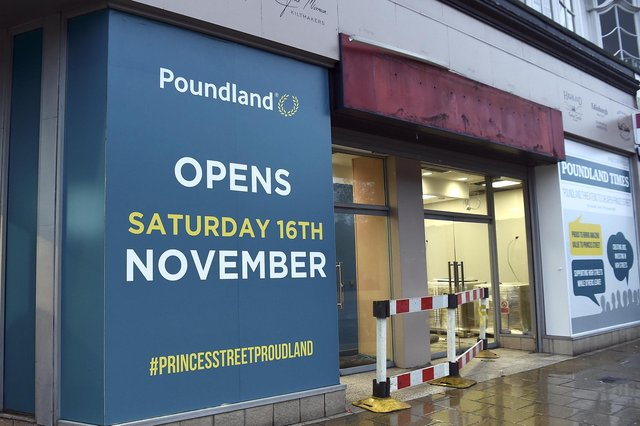 Poundland opened a large branch on Princes Street in Edinburgh in 2019. Picture: Lisa Ferguson