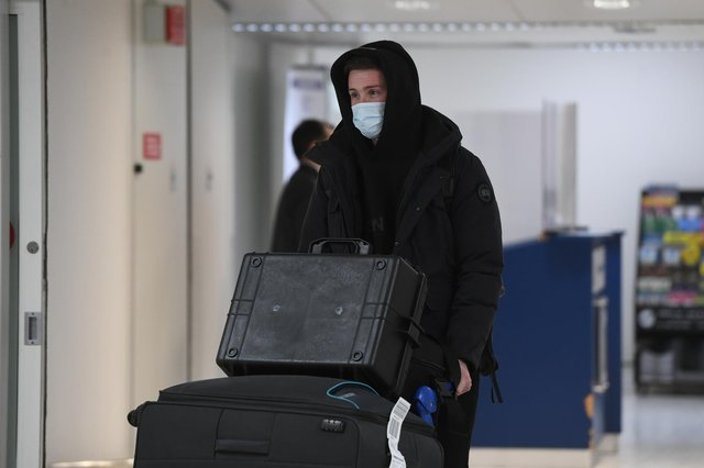 Bournemouth's Jack Simpson, a target for Rangers, arrives at Glasgow Airport. Picture: SNS