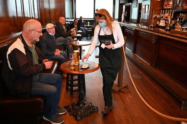 Scots will be able to drink inside pubs from May 17.
