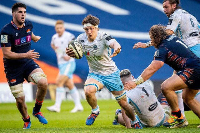 Rory Darge displays the footwork that has impressed Glasgow Warriors coach Danny Wilson. Picture: Ross MacDonald/SNS